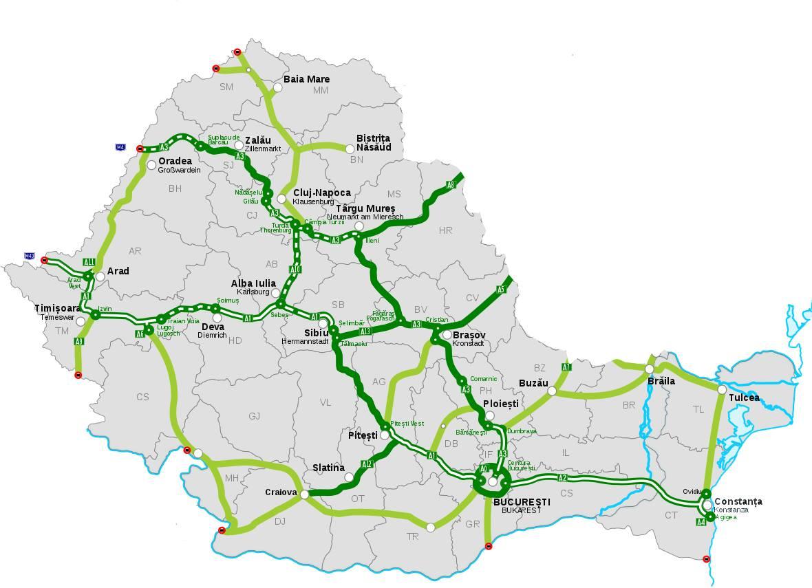 Ponta A Prezentat Harta Autostrazilor Pe Unde A Desenat Cele